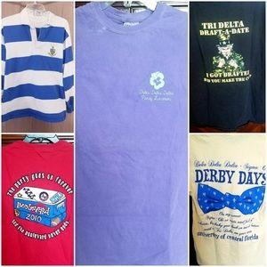 Tri Delta sorority t-shirt bundle